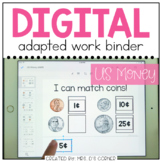 DIGITAL Adapted Work Binder ( US Money ) | Distance Learning