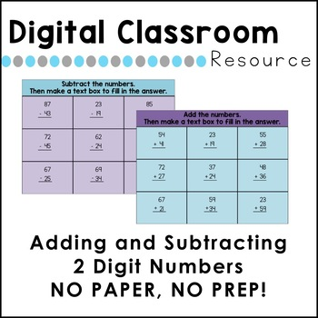 DIGITAL Addition and Subtraction FREEBIE