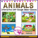 DIGITAL Animal Habitats Can Upload as Google Slides or Seesaw or Printable