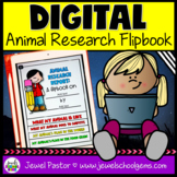 Animal Research DIGITAL Flipbook (Google Classroom Distanc