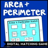 DIGITAL Area & Perimeter Matching Game for Google Drive