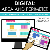 DIGITAL: Area and Perimeter for Grades 3-5 | Distance Learning