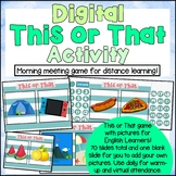 DIGITAL Attendance Tracker / This or That Icebreaker Game