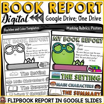 digital book report flipbook google drive google slides google