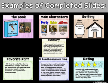 digital book report in google slides by the techie teacher tpt