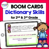 DIGITAL BOOM CARDS Dictionary Skills Activities