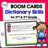 Boom Cards Digital Spelling DICTIONARY SKILLS 2nd Grade &
