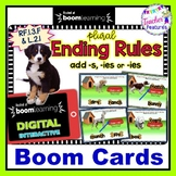 DIGITAL BOOM CARDS ELA Inflectional Ending Rules -s, -ies or -es