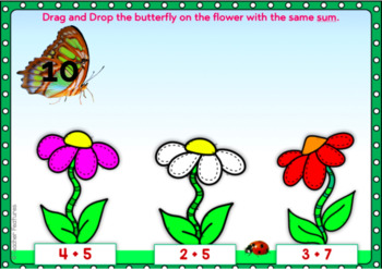 BOOM CARDS MATH Addition Within 20 - BUTTERFLY THEME