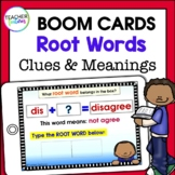 BOOM CARDS ELA | Root Words, Prefixes and Suffixes | Root Word Clues & Meanings
