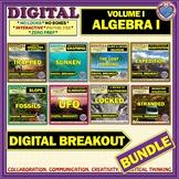 DIGITAL BREAKOUT BUNDLE - ALGEBRA I VOLUME I