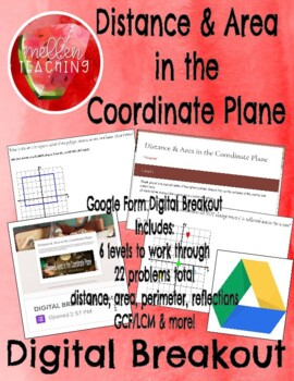 DIGITAL BREAKOUT: Distance & Area in the Coordinate Plane  GOOGLE FORM ACTIVITY