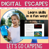 DIGITAL ESCAPE ROOM   Camping Theme   Distance Learning