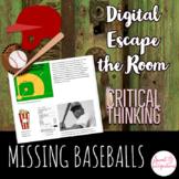 DIGITAL ESCAPE ROOM: The Missing Baseballs - The History of Baseball