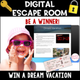 DIGITAL ESCAPE ROOM: Win a Dream Vacation Math | Distance Learning