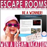 DIGITAL ESCAPE ROOM: Win a Dream Vacation Math | Distance