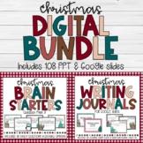 DIGITAL BUNDLE Christmas Brain Starters and Digital Writin