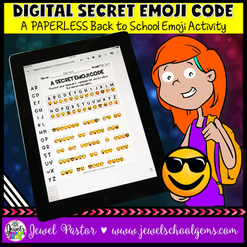 DIGITAL Back to School Emoji Activities (PAPERLESS Emoji Back to School)