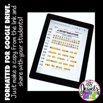 DIGITAL Back to School Emoji Activities (PAPERLESS Emoji Back to School)