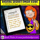DIGITAL Back to School Emoji Activities (PAPERLESS Emoji C