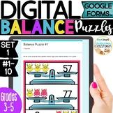 DIGITAL Balance Puzzles Set 1 | Puzzles for Google Forms™