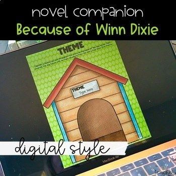 Distance Learning DIGITAL Because of Winn Dixie Novel Study