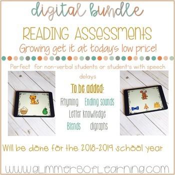 DIGITAL Reading Assessment BUNDLE