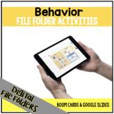 DIGITAL Behavior File Folder Activities