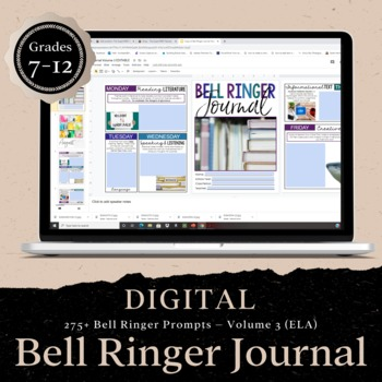 DIGITAL Bell Ringer Journal for Entire School Year: 275 Prompts (VOLUME THREE)