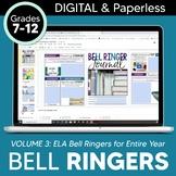 DIGITAL Bell Ringer Journal for Entire School Year: 275 Pr
