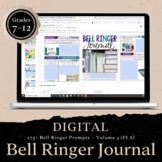 DIGITAL Bell Ringer Journal for Entire Year: 275 Prompts vol 3 DISTANCE LEARNING