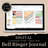 DIGITAL Bell Ringer Journal for Entire School Year: 275 Pr