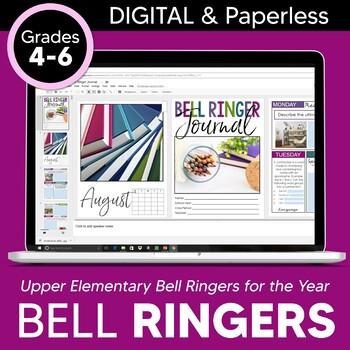 DIGITAL Bell Ringer Journal for Entire School Year: Upper Elementary Grades 4-6