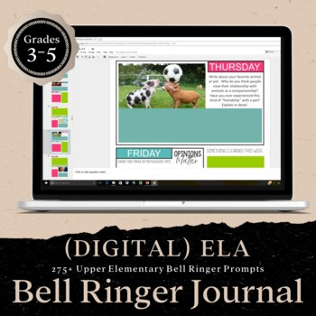 DIGITAL Bell Ringer Journal for the Entire School Year: Grades 3-5