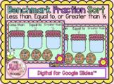 DIGITAL Benchmark Fraction Sort Preloaded for Google Slides 4.3F