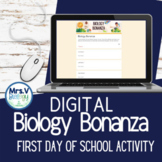 DIGITAL Biology Bonanza-First Day of School Activity