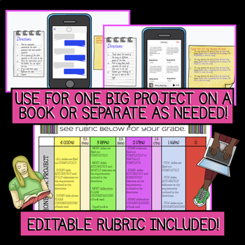 DIGITAL Book Report/Assessment: iPhone Inspired Template(s)