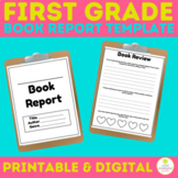 DIGITAL Book Report Reading Comprehension  DISTANCE LEARNING
