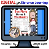 DIGITAL Box and Whisker Plots Notes and Practice Worksheet with Answer Key