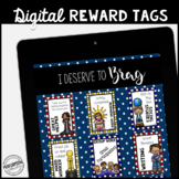 Classroom Management DIGITAL Reward Tags: No more cutting