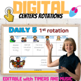 DIGITAL CENTER ROTATION BOARD| EDITABLE