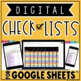 DIGITAL CHECK LISTS FOR GOOGLE SHEETS™