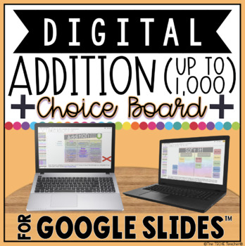DIGITAL CHOICE BOARD FOR ADDITION IN GOOGLE SLIDES™