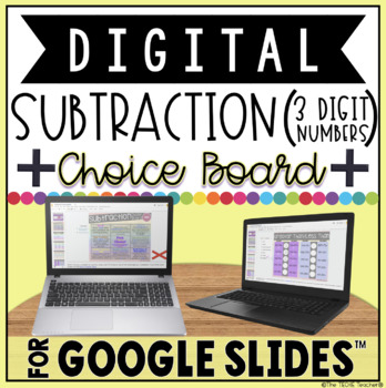 DIGITAL CHOICE BOARD FOR SUBTRACTION IN GOOGLE SLIDES™