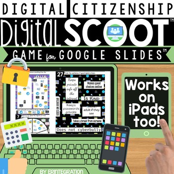 DIGITAL CITIZENSHIP DIGITAL SCOOT FOR GOOGLE SLIDES