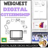 DIGITAL CITIZENSHIP Google Classroom COLLABORATIVE WEBQUES