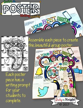 Digital Citizenship Writing Activity, Poster, Group Collaboration Project