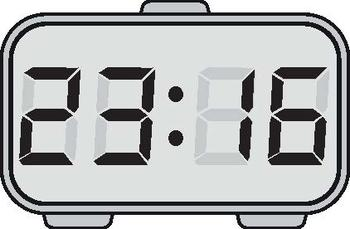 TIME - DIGITAL CLOCK CLIP-ART - SHOWING EVERY POSSIBLE ...