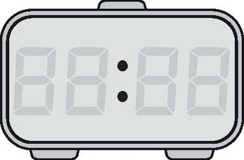 TIME - DIGITAL CLOCK CLIP-ART - SHOWING EVERY POSSIBLE TIME TO 1 minute + Blank