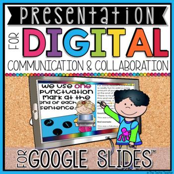 DIGITAL COMMUNICATION AND COLLABORATION REMINDERS PRESENTATION IN GOOGLE SLIDES™